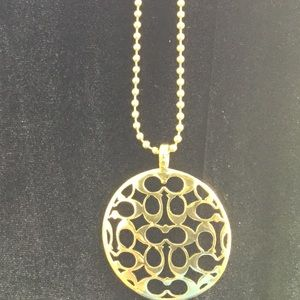 Coach medallion with chain